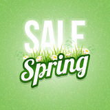 Spring Sale. Poster design template. Elements are layered separately in  file Stock Images