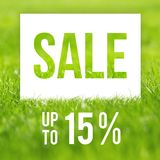 Spring sale poster. 15 off discount promotion sale.