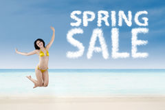 Spring sale promotion concept Royalty Free Stock Photo