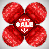 Spring sale red flower Royalty Free Stock Photo