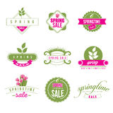 Spring Sale retro icon collection EPS 10 vector. Royalty free stock illustration for greeting card, ad, promotion, poster, flier, blog, article, ad, marketing stock illustration