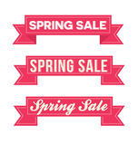 Spring sale ribbons Stock Photography