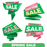 Spring sale. Sale label price tag banner badge template sticker Stock Image