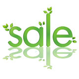 Spring sale, sale letters lush leaves Stock Photo