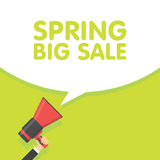 Spring sale season announcement megaphone  illustration Stock Photos