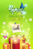 Spring Sale Shopping Special Offer Holiday Banner Stock Image