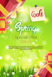 Spring Sale Shopping Special Offer Holiday Banner Stock Photo