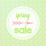 Spring sale sign Royalty Free Stock Photo