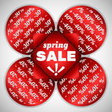 Spring Sale stickers Royalty Free Stock Photo