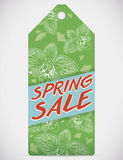 Spring Sale Tag with Floral Design Isolated, Vector Illustration Stock Photo