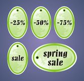 Spring Sale Tags Stock Images