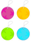 Spring Sale Tags. A set of four sale tags in bright spring inspired colors Stock Images