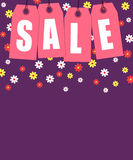 Spring sale tags banner design Stock Images