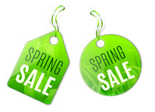 Spring Sale Tags Royalty Free Stock Photos