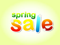 Spring sale text with flowers Stock Image