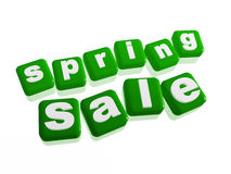 Spring sale - text in green cubes Stock Photos