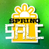 Spring Sale Theme with Sun Symbol Royalty Free Stock Photos