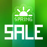Spring Sale Theme with Sun Symbol Stock Image