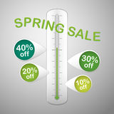 Spring sale thermometer Royalty Free Stock Photos