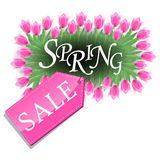 Spring sale tulips design Stock Photography