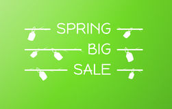 Spring sale vector background Stock Photos