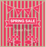 Spring sale vector Royalty Free Stock Images