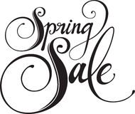 Spring Sale. Vector version of my own calligraphy Royalty Free Stock Image