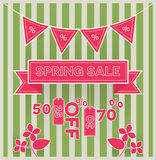 Spring sale vector Stock Photography
