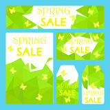 Spring sale voucher flyer templates Royalty Free Stock Photography