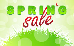 SPRING SALE words Royalty Free Stock Photo