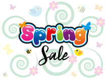 Spring Sale. Writing in spring background Stock Photos