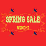 Spring sales background with flowers . Can also be used as a decorative card. Spring sales background with flowersfor shopping. Can also be used as a decorative Stock Image