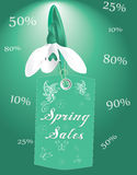 Spring sales business banner Stock Photos