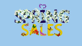 SPRING SALES FLORAL 3D TEXT Royalty Free Stock Photos