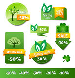Spring Sales Labels Royalty Free Stock Image