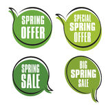 Spring sales labels Royalty Free Stock Photos