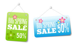 Spring Sales Labels Royalty Free Stock Photo
