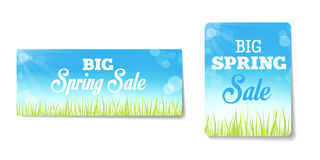 Spring sales labels. For web or print or shop window decoration. Can be used as price tags Stock Photos