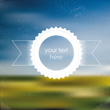 Spring sales poster concept with blurred Royalty Free Stock Photography