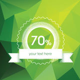 Spring sales poster concept with modern green low Stock Photos