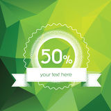 Spring sales poster concept with modern green low Royalty Free Stock Photography