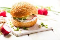 Spring sandwich Stock Photos