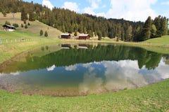 Spring scenary of Dolomites Alps, Italy Stock Photos
