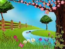 Spring Scene Royalty Free Stock Photography