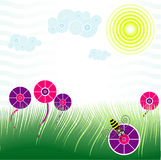 Spring scene. Editable abstract vector illustration of a springtime scene vector illustration