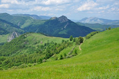 Spring scene in the mountains Royalty Free Stock Image