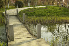 Small Bridge and path Stock Image