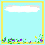 Spring scrapbook frame Royalty Free Stock Image