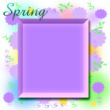 Spring scrapbook frame Royalty Free Stock Photos