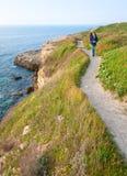 Spring sea coastline Stock Photo